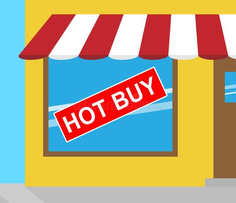 Heet koop Teken die Goedkope Koopjes 3d Illustratie tonen stock illustratie