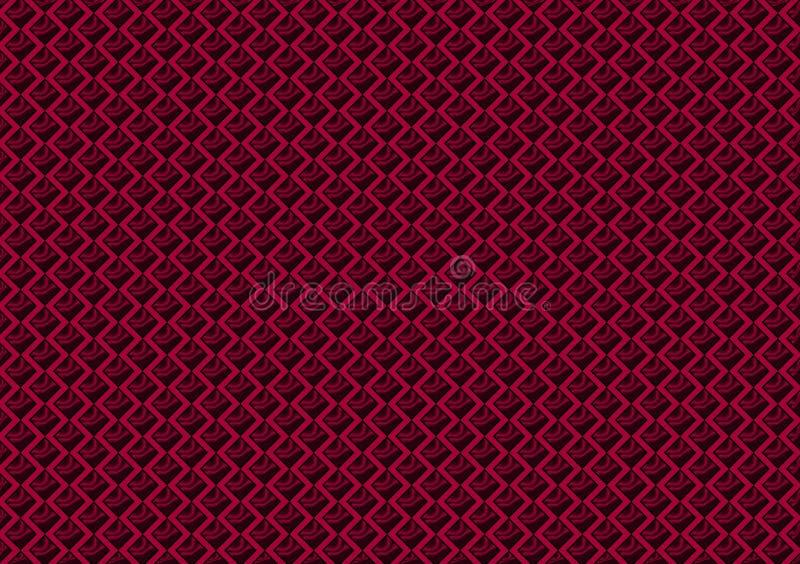 Heet roze gekleurd patroon gecontroleerd behang royalty-vrije illustratie