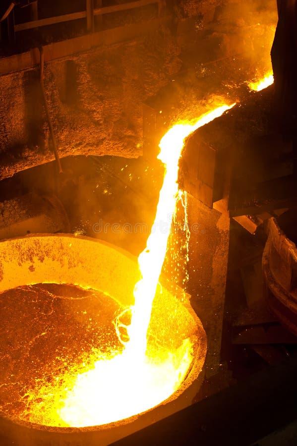 Heet staal royalty-vrije stock afbeeldingen