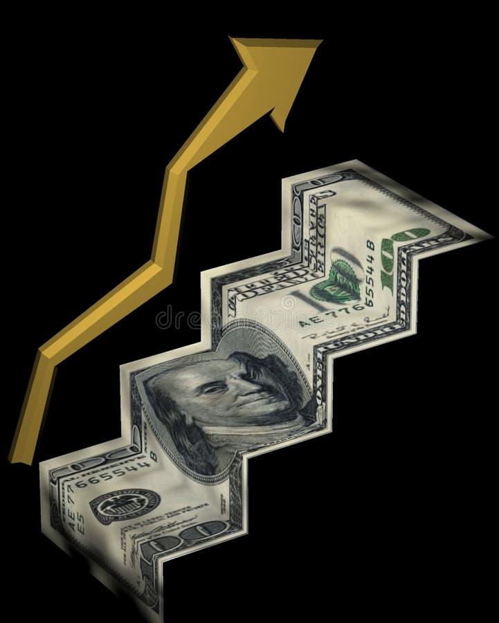 Hef op inkomen op royalty-vrije illustratie