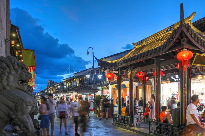 Hefang Street, Hangzhou, China royalty free stock image