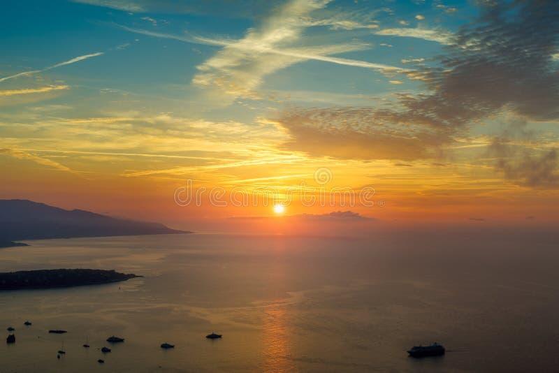 Hefboom DE soleil sur Monaco stock afbeelding