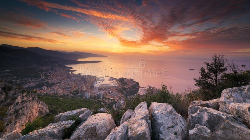 Hefboom DE soleil sur Monaco royalty-vrije stock fotografie