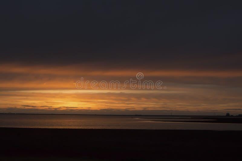 Hefner del lago sunset foto de archivo libre de regalías
