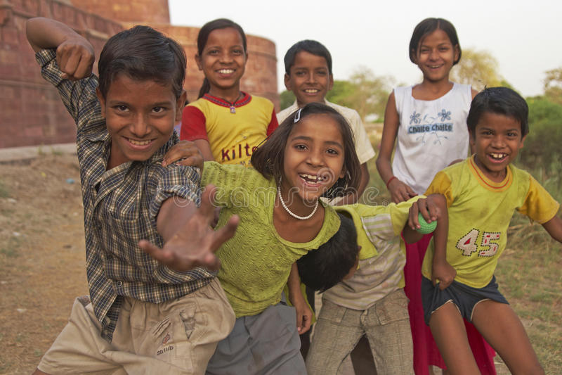 Heftige Kinderen stock foto's