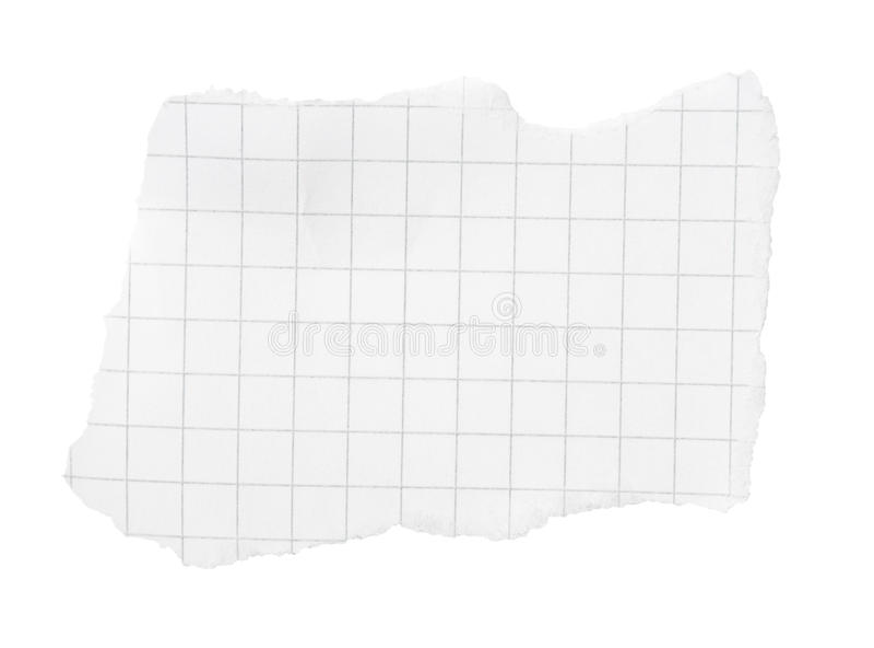 Heftiges Bit des quadrierten Papiers lizenzfreie stockfotos