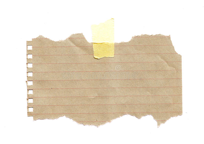 Heftiges Papier stockbild