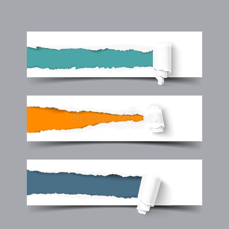 Heftiges Papier mit einer Rolle vektor abbildung