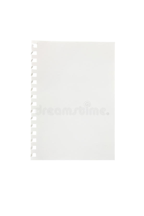 Heftiges Stück Notizbuchpapier lizenzfreie stockbilder