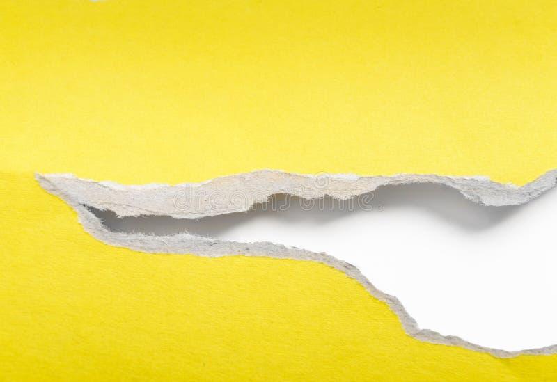 Heftiges zerrissenes Papier stockbild