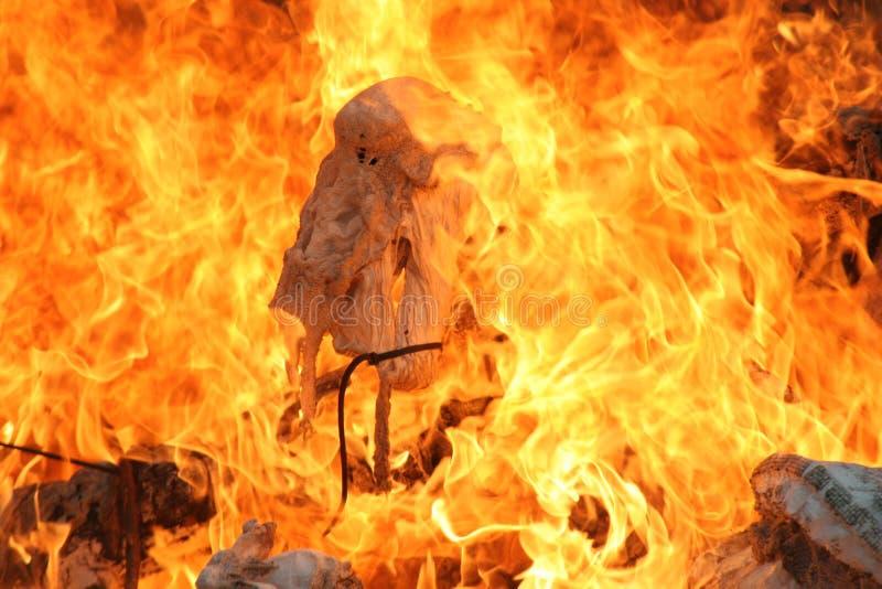 Heiße Flammen stockbild