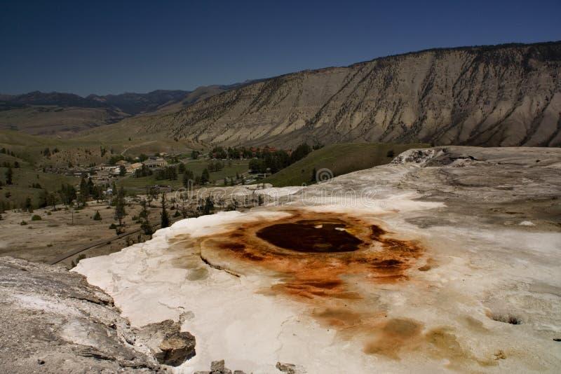Heiße Frühlinge Yellowstone lizenzfreie stockbilder