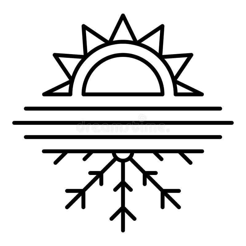 Heiße kalte Conditionerikone, Entwurfsart lizenzfreie abbildung