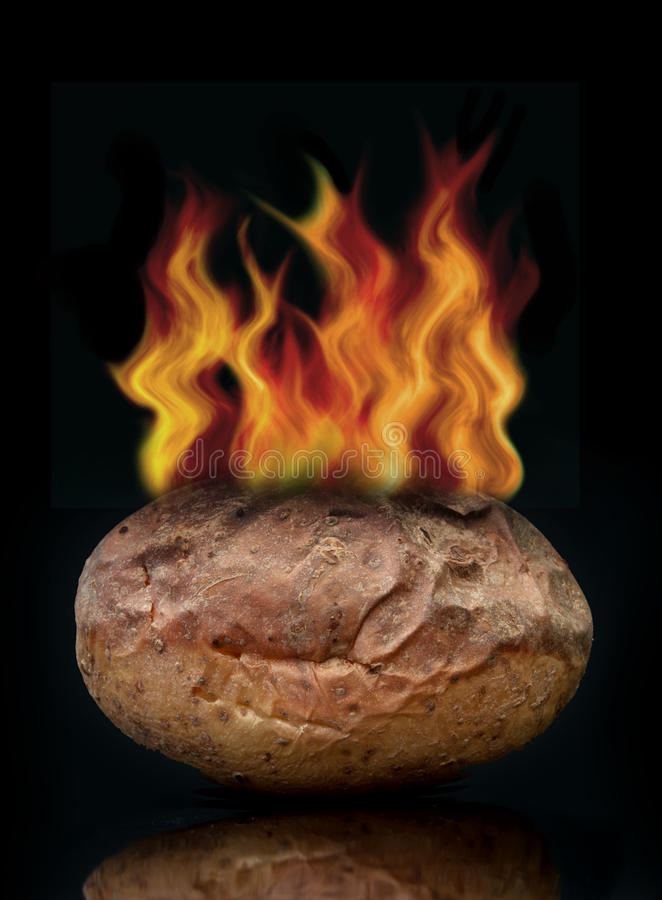 Heiße Kartoffel lizenzfreie stockbilder