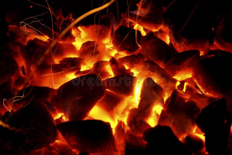 Heiße Kohlen lizenzfreie stockfotografie