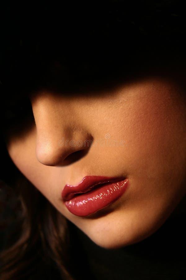 Heiße Lippen lizenzfreie stockfotografie