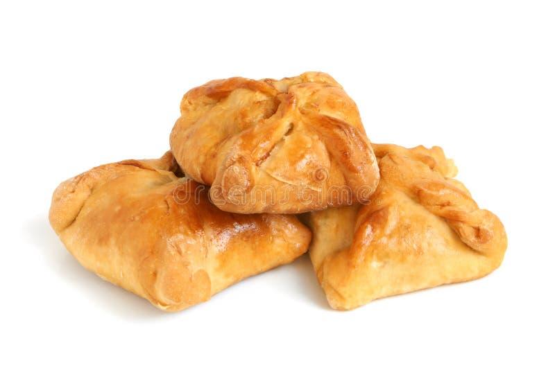 Heiße Pastetchen vom Weizenmehl stockfoto