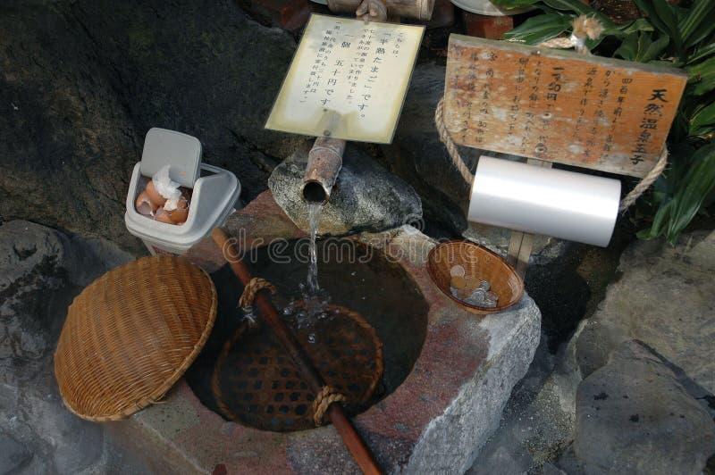 Heiße Quelle für kochende Eier lizenzfreie stockfotos