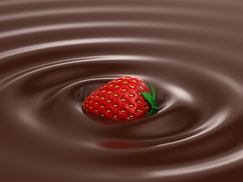 Heiße Schokolade lizenzfreie abbildung