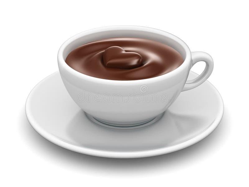 Heiße Schokolade stock abbildung