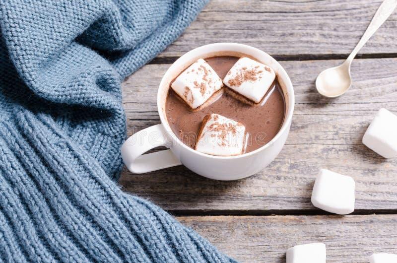 Heiße Schokolade mit Eibisch stockfotos