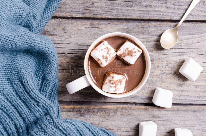 Heiße Schokolade mit Eibisch lizenzfreies stockfoto