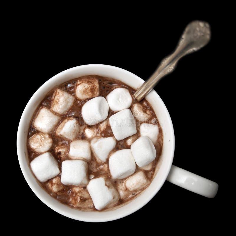 Heiße Schokolade mit Marshmellows stockbilder