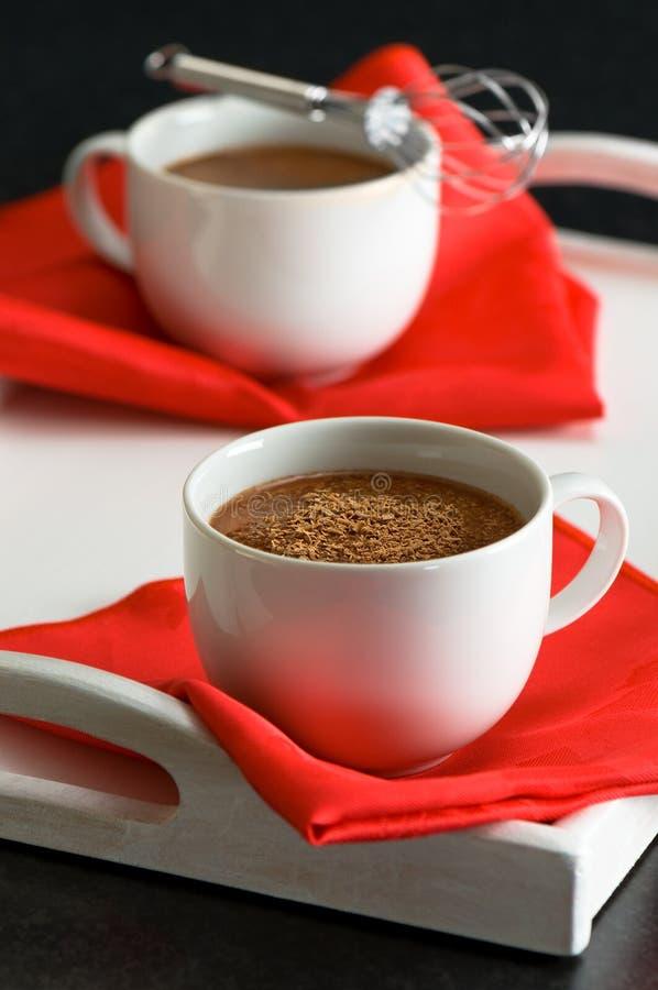 Heiße Schokoladen-Getränke stockfoto