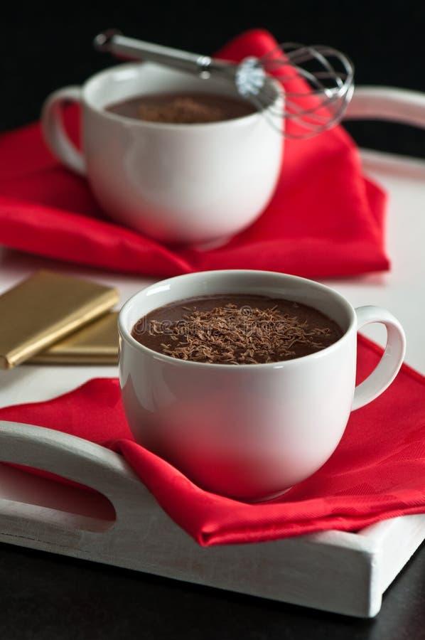 Heiße Schokoladen-Getränke lizenzfreies stockbild