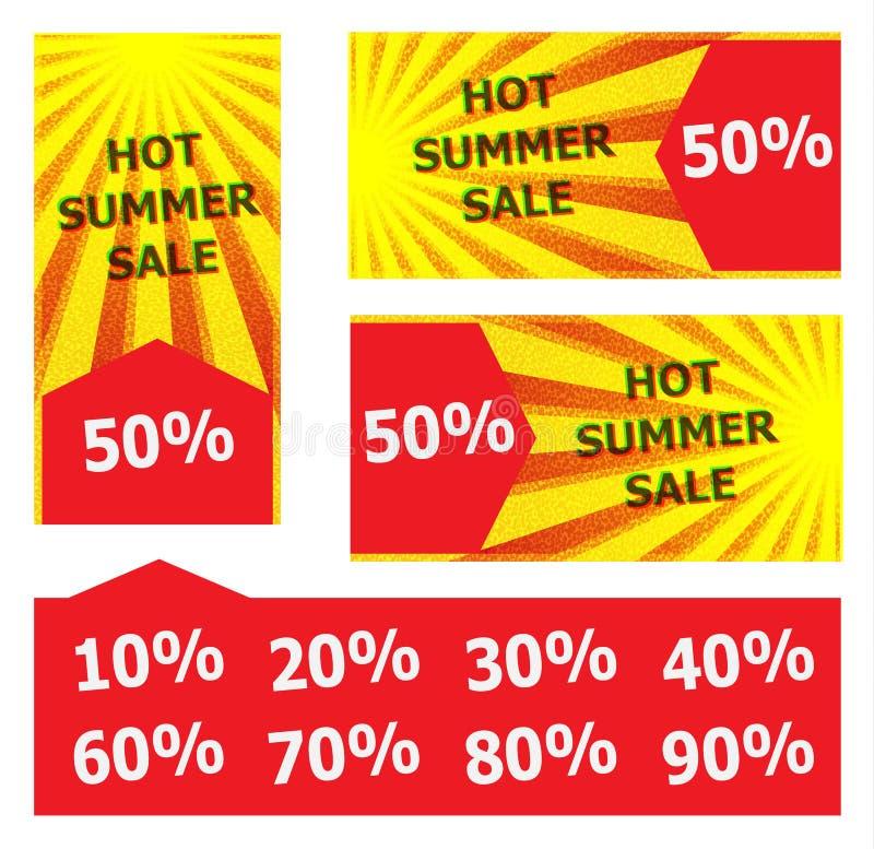 Heiße Sommerschlussverkauffahne lizenzfreie stockbilder