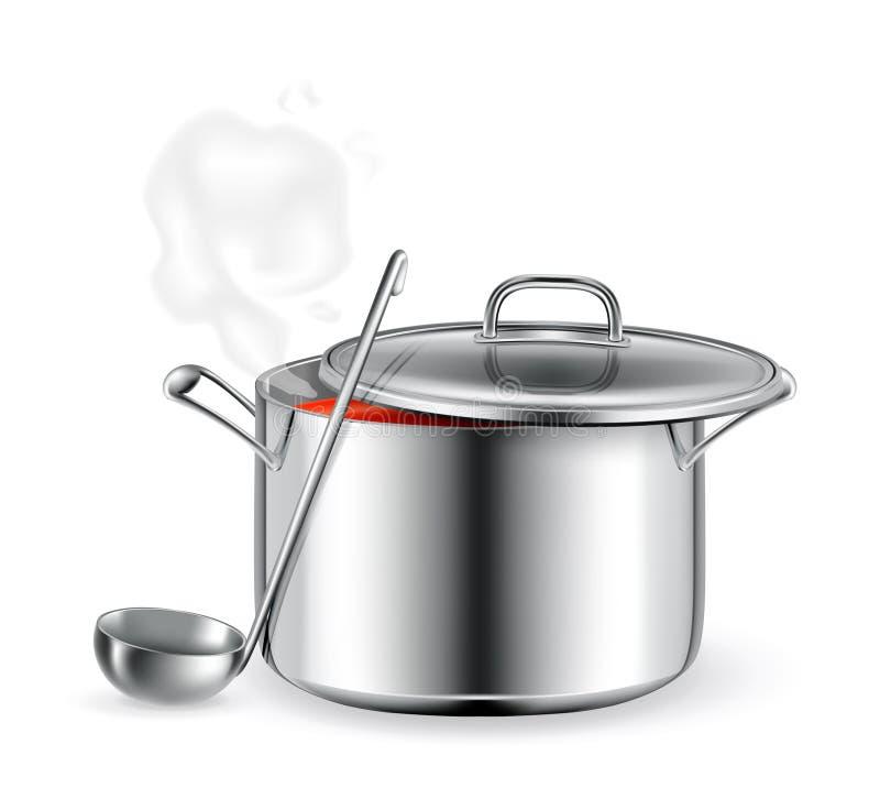 Heiße Suppe lizenzfreie abbildung