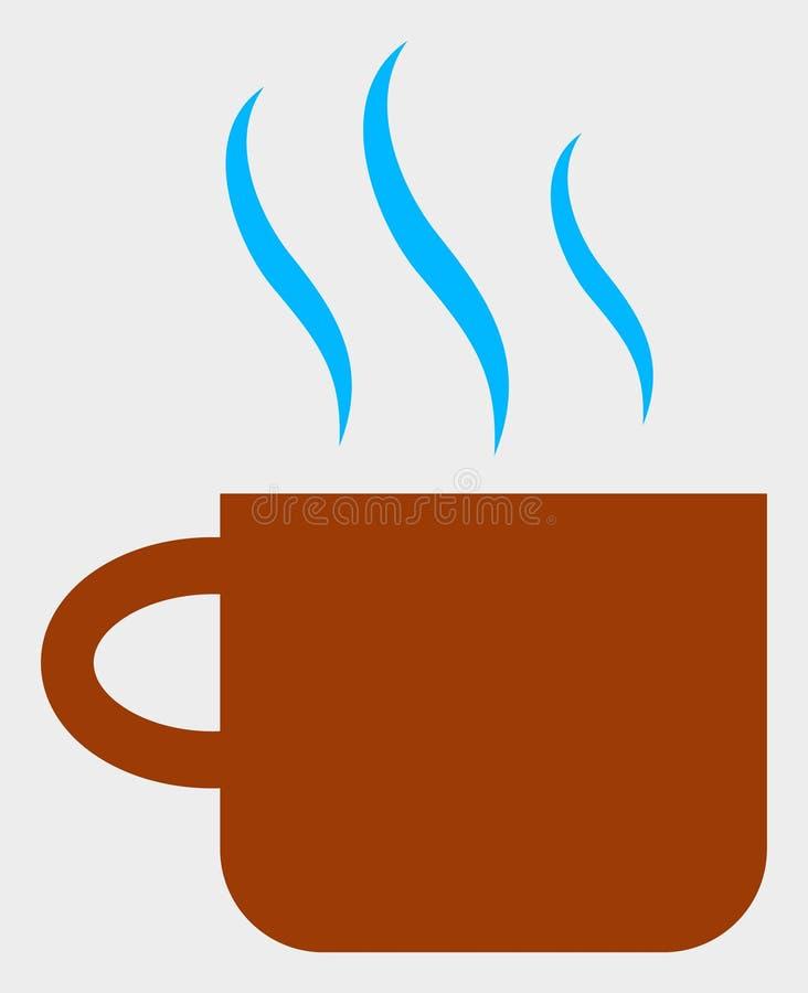 Heiße Tee-Schalen-Vektor-Ikonen-Illustration lizenzfreie abbildung