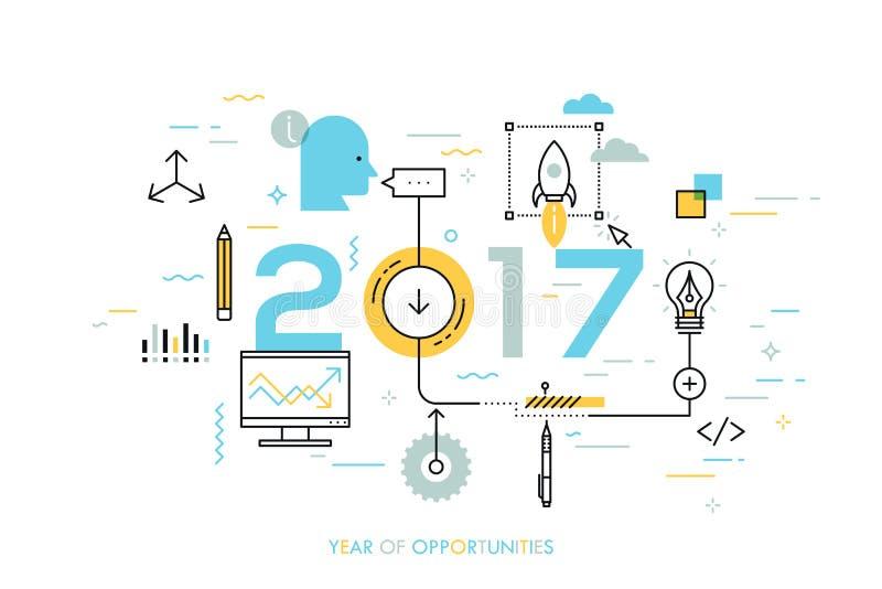 Heiße Tendenzen und Aussichten in der Ideenschaffung, innovative Tätigkeiten, Startprodukteinführung, Entwicklung vektor abbildung