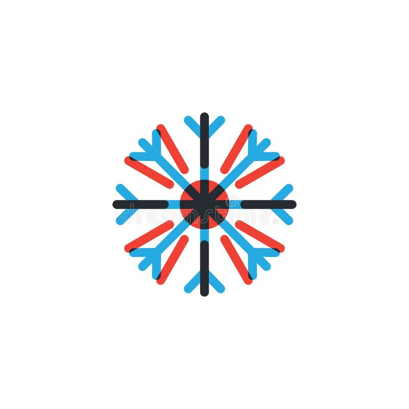 Heiße und kalte Ikonengrafikdesignschablone stock abbildung