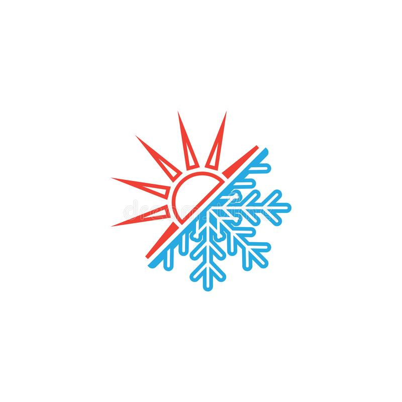 Heiße und kalte Ikonengrafikdesignschablone lizenzfreie abbildung