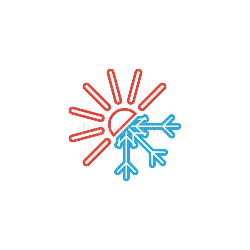 Heiße und kalte Ikonengrafikdesignschablone vektor abbildung