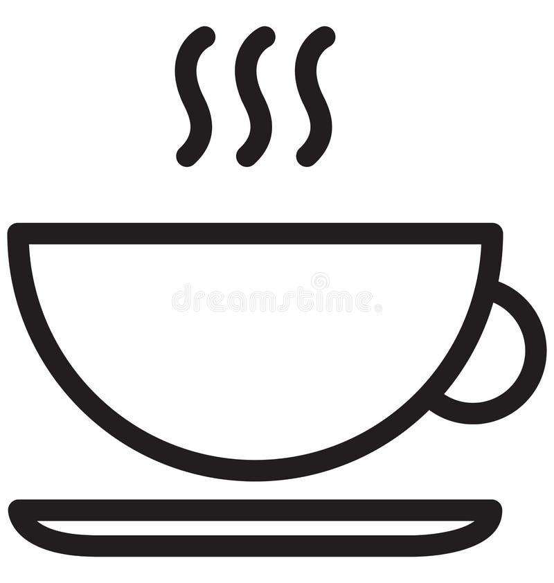 Heiße Vektor-Illustration der Tee-einzelnen Zeile vektor abbildung