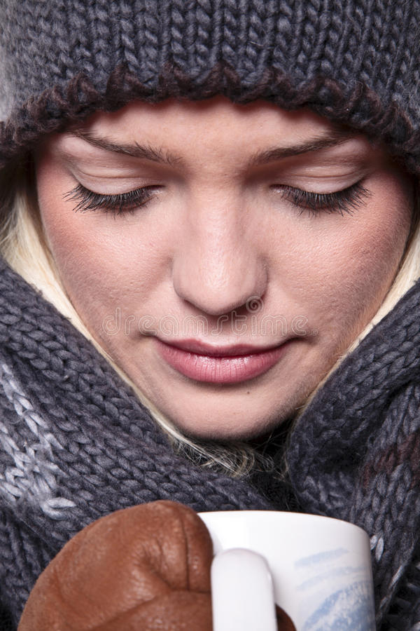 Heiße Winter-Getränk-Nahaufnahme lizenzfreie stockbilder