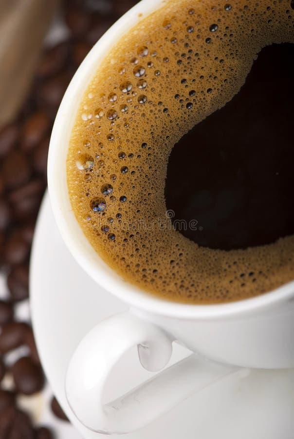 Heißer Kaffee der Schale stockbilder