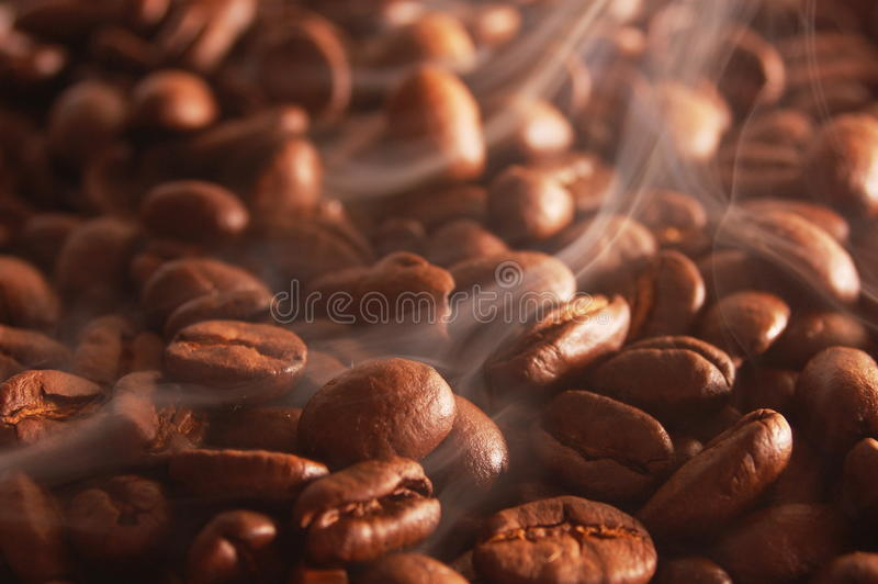Heißer Kaffee zum Frühstück lizenzfreie stockfotos