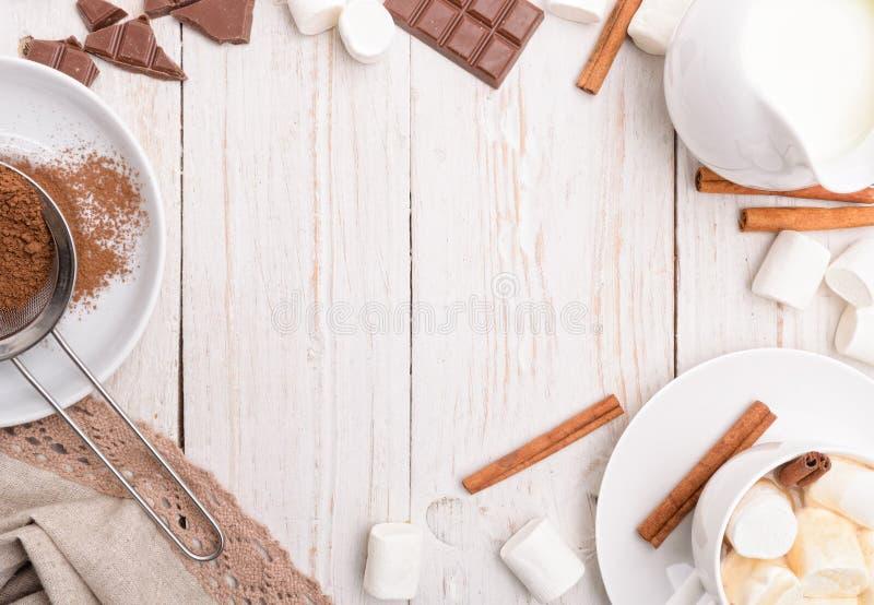 Heißer Kakao Feld stockfotografie