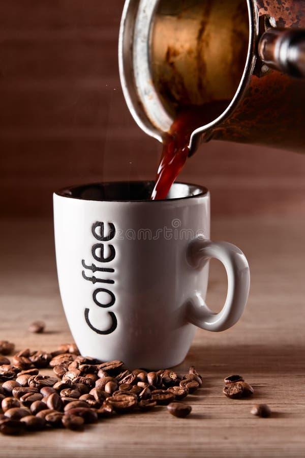 Heißer Morgenkaffee lizenzfreie stockfotos