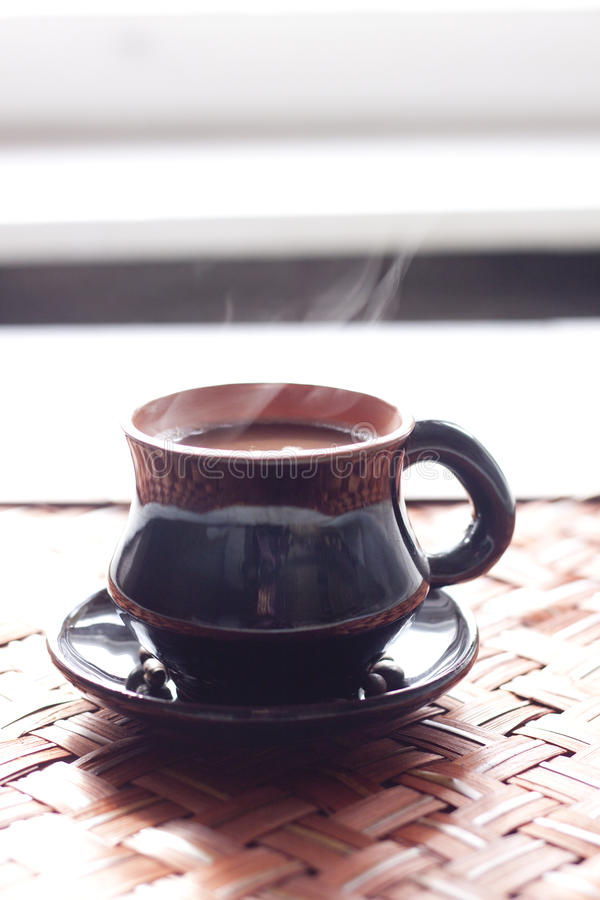 Heißer Morgenkaffee stockfoto