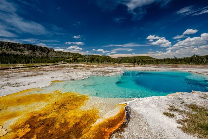 Heißer Quellpunkt in Yellowstone stockbild
