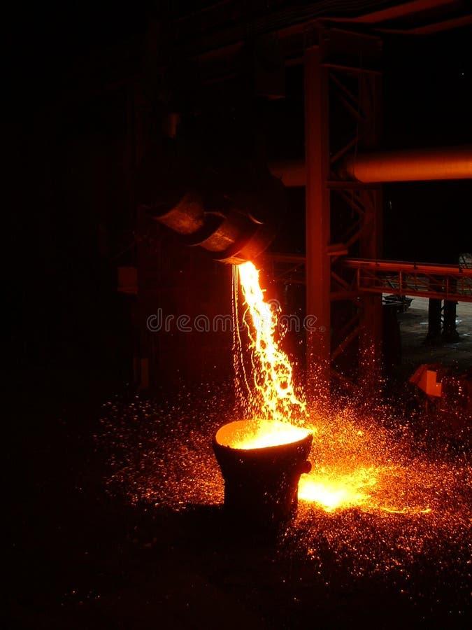 Heißer Stahl stockfoto