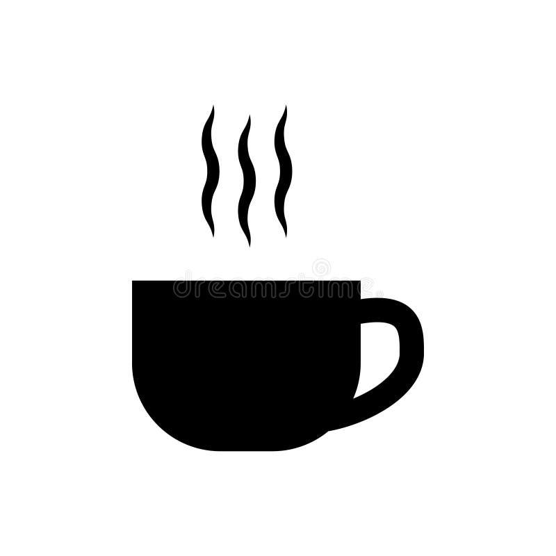 Hei?er Tee, Kaffeetasse-Vektorikone f?r Grafikdesign, Logo, Website, Social Media, mobiler App, ui Illustration vektor abbildung