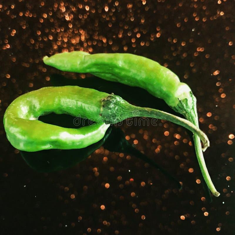 Heißer würziger grüner Paprika lizenzfreies stockbild