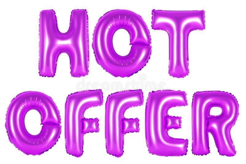 Heißes Angebot, purpurrote Farbe lizenzfreie stockbilder