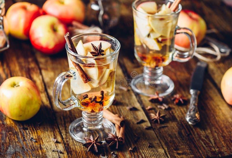 Heißes Apfelwein-Getränk stockbild