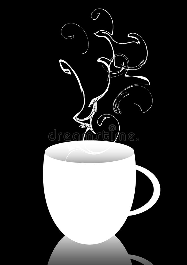 Heißes Getränk stockbild